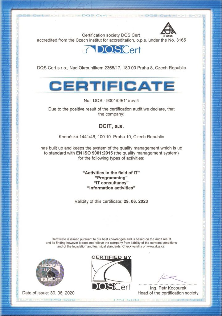 Certificate Provys